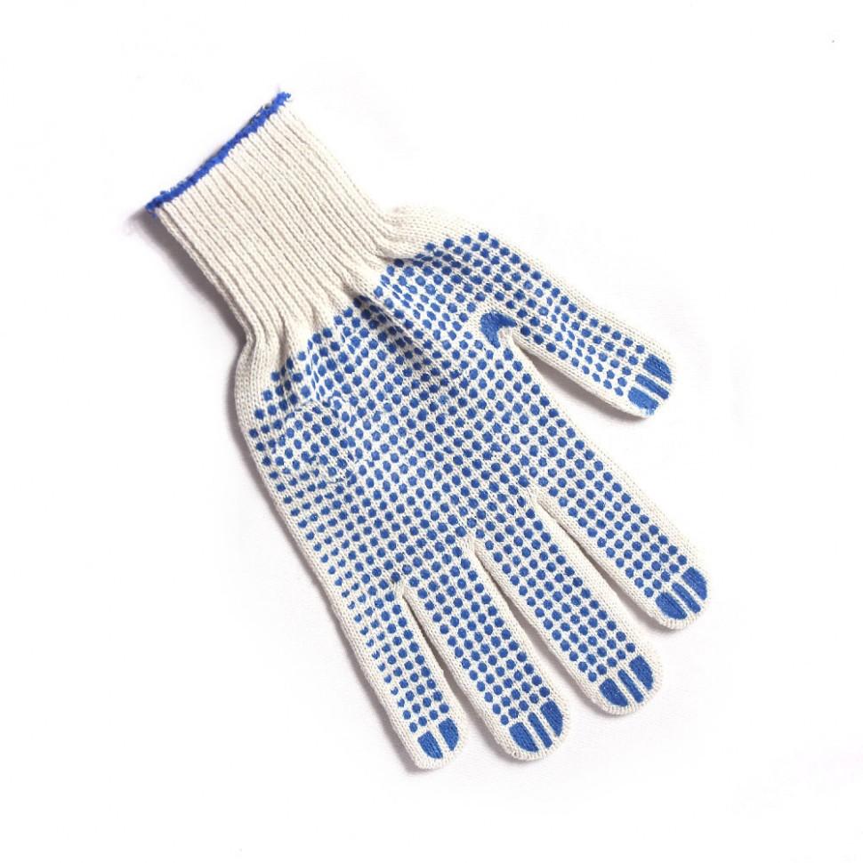 перчатки х/б 7,5 4-х нитка 10 класс с ПВХ